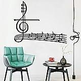 Musiknoten Tapete Vinyl Aufkleber Violinschlüssel Wandaufkleber Musik Home Wanddekoration Schlafzimmerdekoration Abnehmbare Haushaltsgegenstände 52cm x 42cm