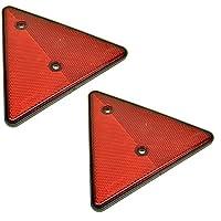 AB Tools Reflective Trailer Triangles Triangular Reflectors (PAIR) TR051