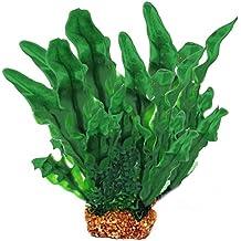 Plástico Artificial agua planta acuática peces tanque acuario paisaje decoración ornamento verde grande 36cm 14 pulgadas de altura