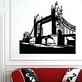 zhuziji Grand London Bridge Wandaufkleber England Cartoon Aufkleber Vinyl Kunst Dekor Vintage Home...