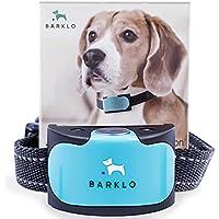 [Gesponsert]Hunde Anti Bell Halsband für kleine, mittelgroße und große Hunde von Barklo Wasserdichtes Vibrierendes Anti Bell Trainingshilfsmittel (12+ lbs) (Blau)