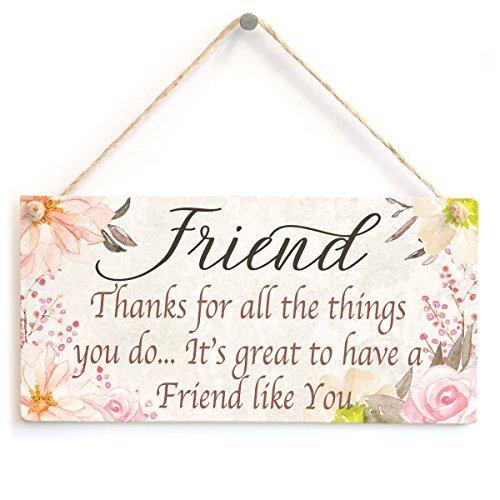 FREUND dank für All die Dinge, die Sie tun... it 's great to have a Friend Like You–Schöne Freundschaft Geschenk Schild