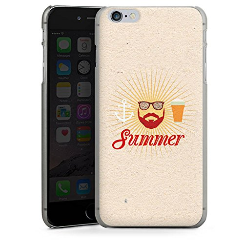 Apple iPhone X Silikon Hülle Case Schutzhülle Sommer Hipster Bart Hard Case anthrazit-klar