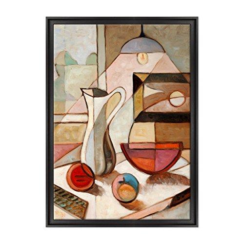 Gemälde auf Leinwand imPablo Picasso Stil, gerahmt, bereit zum Aufhängen,Kubismus, moderne Kunst Dimensione: 70x100cm C - Colore Nero Contemporaneo - Pablo Picasso-moderne Kunst