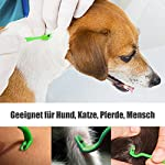 Tick Remover Removal Hook Tool, Tick Tweezers Remove Ticks for Dog Cat Horse Man, Set of 3 8