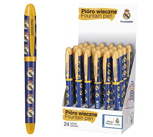 Real Madrid stylo plume a cartouche fourniture scolaire fan Champions Club Football