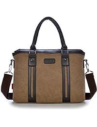 55669e25b554 Genric khaki   Men Preppy Style Canvas Casual Tote Vintage Handbags For Teenage  Boys Shoulder Bags School Bag…