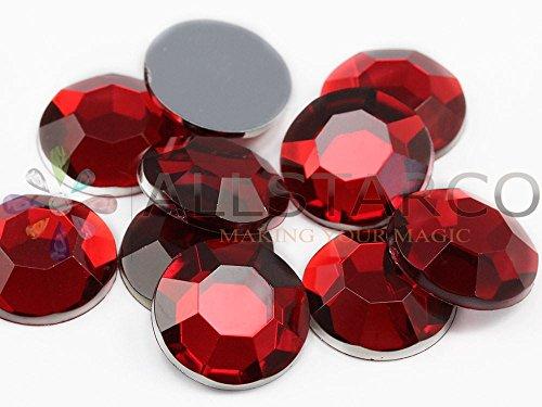 18 mm rouge-rubis H103 strass en acrylique de haute qualité, sans nickel. Lead Pro - 40 pièces