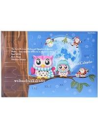 MJARTORIA Damen Kinder Mädchen Schmuck Adventskalender Weihnachtsbaum  Ohrringe Halskette Mutter Tochter… 19d2c17ad5