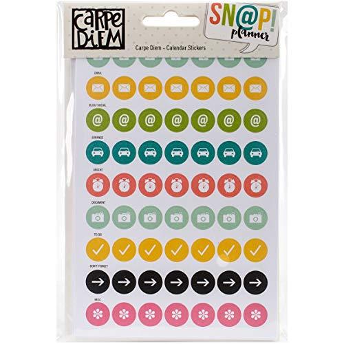 Unbekannt Simple Stories Carpe Diem Aufkleber 4-Zoll x 68/pkg-Calendar, andere, Mehrfarbig