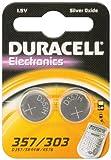 2er Set Duracell Batterie Elektronik 357/303 Silberoxydknopfzelle (SR44) 1,5V 2St SR 44 / 357/ 303 Duracell
