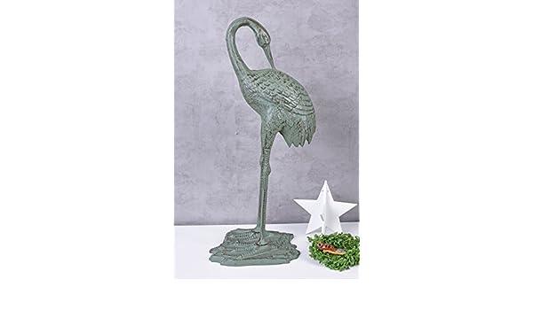 Teichfigur Fischreiher Vogelfigur Gusseisen Reiherschreck Gartenfigur 76cm 9kg