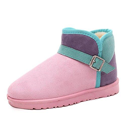 Rose fourrure boots femme hiver chaud garder Vêtements Bottes Martin bottes chaussures Transer® et bottes neige vaZx5wq6