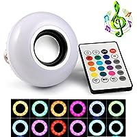 geree Bluetooth Musica Musica, 6W, E27, Luce LED 100–240V RGB cambiamento luce con 24tasti telecomando wireless audio stereo speaker