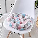 M&X Weiche runde rundschreiben Sitz Pads Luxus Garten esszimmer Stuhl Schaumstoff Kissen Krawatte auf Kissen Polster Kissen Startseite büro Stuhl pad-R 45x45cm(18x18inch)