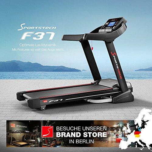Sportstech F37 Profi Laufband, Selbstschmiersystem, Smartphone Fitness App, klappbar kompakt verstaubar Abbildung 2