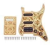 Dilwe Pickguard chargé pour Guitare, pickguard avec micros SSH précâblés et Plaque arrière pour Guitare électrique St
