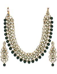 Shining Diva Fashion Kundan Wedding Party Wear Stylish Necklace Set For Women Traditional Jewellery Set With Earrings...
