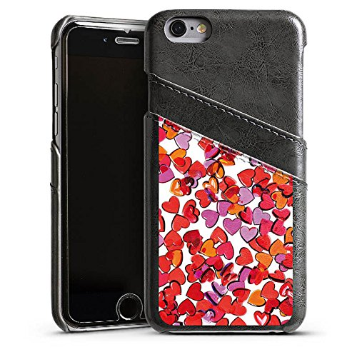 Apple iPhone 5s Housse Étui Protection Coque Amour Amour C½ur Étui en cuir gris