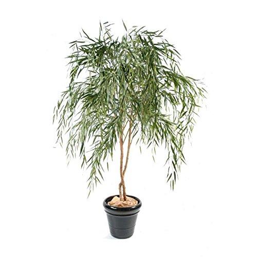 arbuste artificiel saule 2 tronc en bois - h : 210