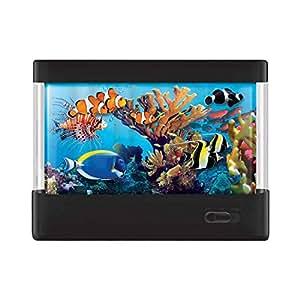 Discovery Kids Animated Tropical Fish Marine Aquarium Lamp With Auto Shut Off