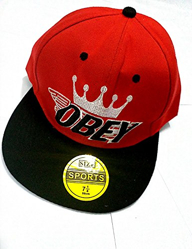 Zacharias Men's Hip Hop Cap (Red 3)  available at amazon for Rs.199