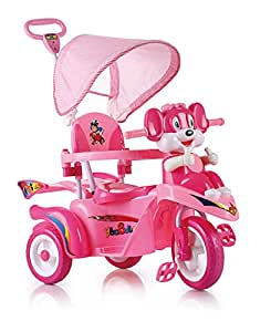 Toyhouse Cartoon Baby Tricycle Scooty style with Push Handle Steering system Pink