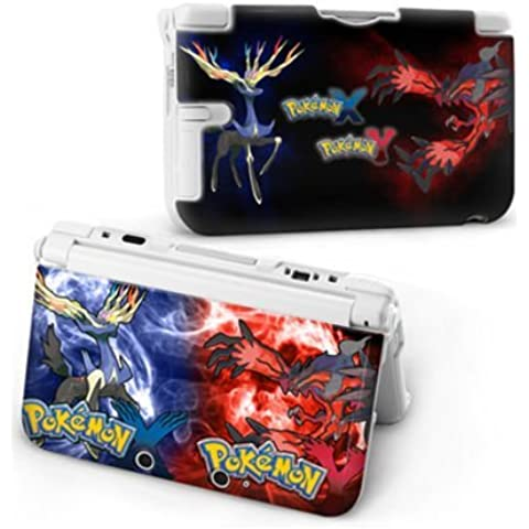 Cartoon Pikachu Pokemon World X Y Hard Protective Case Cover For Nintendo 3DS XL [Importación Inglesa]