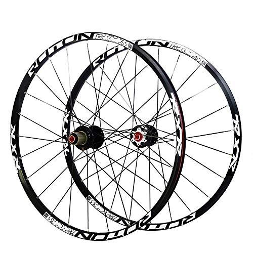 XIAOL 26 27 5-Zoll-MTB-Mountainbike-Laufradsatz Leichtmetall-Doppelwandfelge Carbon Ultralight Drum Disc Brake Abgedichtete Schnellspannlager 7 8 9 10 Speed   24H,27.5inch