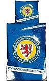 Eintracht Braunschweig Bettwäsche 135 x 200 cm Blau Logo Baumwolle