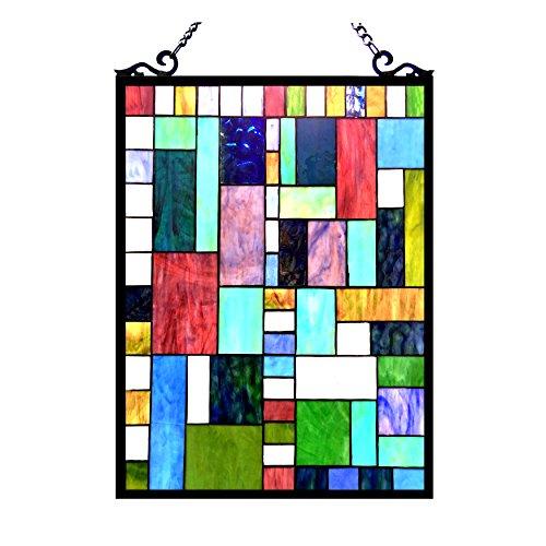 Chloe Beleuchtung Picasso gebeizt Glas Rechteck Fenster Panel 18x 24