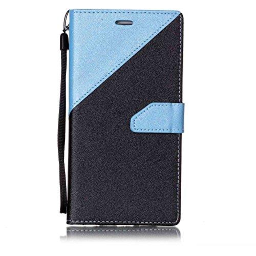 iPhone 6s Plus Coque,Fodlon® Mode Bats toi Couleur Carte Machines à sous avec Cordon Téléphone Housse -Marron Bleu clair