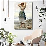 RTCKF Nordic wohnkultur schöne mädchen Poster leinwanddruck wandkunst Bild Wohnzimmer wandbild (kein Rahmen) A5 60x90 cm