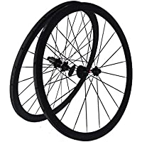 Flyxii Full Carbon 3 K Road bike bicicletta tubolare coppia di ruote 38 mm RIM Spoke Hub for Shimano 8/9/10/11S