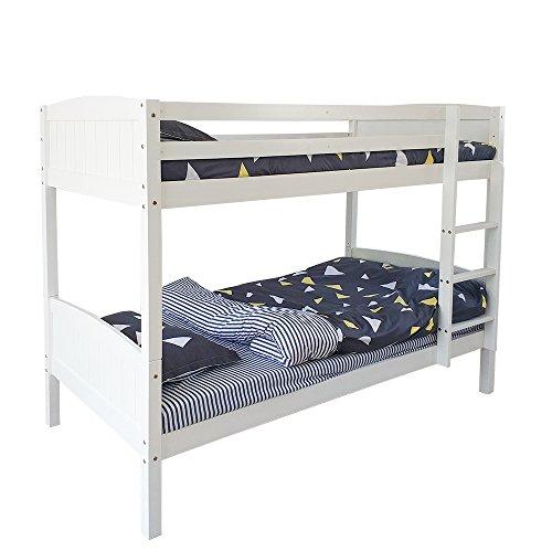 Struttura letto, letto singolo da 0,9 m, struttura in legno di pino ...