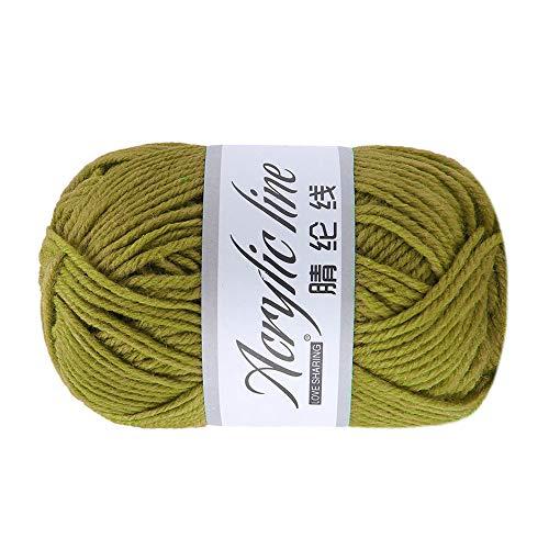 FeiliandaJJ 50g Wolle Zum Stricken & Häkeln,Acrylwolle Baumwolle Einfarbig Super weich Hand Strickgarn Strickwolle für Warme Hüte Pullover Schal Decke Strickprojekt - 12 Farben (E) -