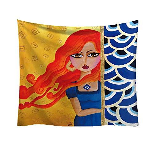 Rosennie Indisch Wandbehang Tapisserie Kreative Muster Bohemian Wandtuch Beach Tapestry Yoga Meditation Mat Art Dekorative Wohnkultur Wandteppich Wand Tagesdecke (Arten Von Goa)