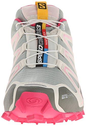 Salomon - Speedcross 3 Cs, Scarpe Da Trail Running da donna Mehrfarbig (Green Clay/Light Grey-/Sakura Pink)