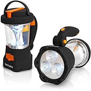 igadgitz Xtra Lumin 4 en 1 Lampe Torche 3 LED & Lanterne 10 LED Dynamo Rechargeable + 1 An Garantie