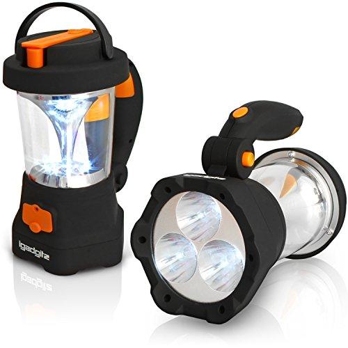 igadgitz Xtra Lumin 4 in 1 wiederaufladbare Dynamo-Taschenlampe 3 LED-Reflektoren und 10 LED-Taschenlampe + 1 Jahr Garantie