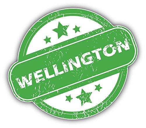 Wellington Grunge Rubber Travel Stamp Art Decor Vinyl Sticker Aufkleber 12 x 10 cm -