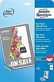 Avery Zweckform 2789-40 Inkjet Flyer-Papier (A4, beidseitig beschichtet, glänzend, 180 g/m²) 40 Blatt