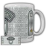 Tasse Oberleutnant BGS Bundesgrenzschutz Polizei Wappen Abzeichen Adler Schulterklappe Uniform Grenzschützer #23687