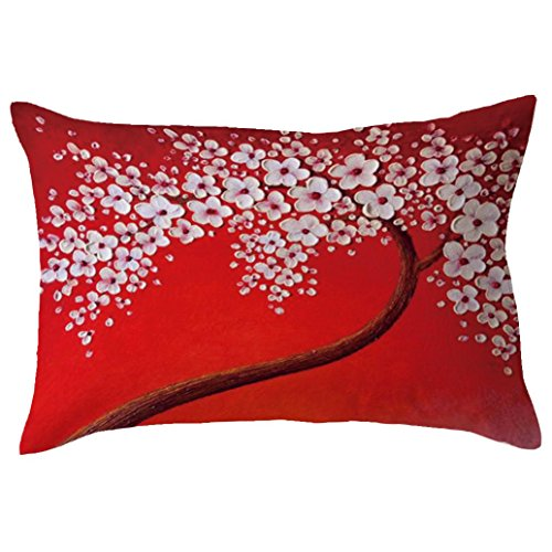 Indexp Rectangle Tree Pattern Printing Throw Cushion Cover Sofa Home Decoration Pillow case (Style O)