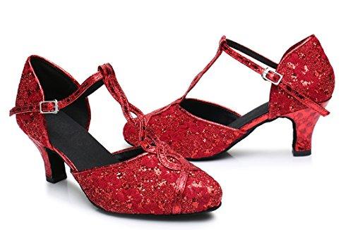 TDA - Sandali con Zeppa donna 6cm Heel Red