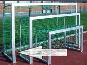 Mini but de foot en Aluminium 2,4 x 1,6 m - Très grande résistance - Pratique pour les petits terrains et jeux d'entraînement !
