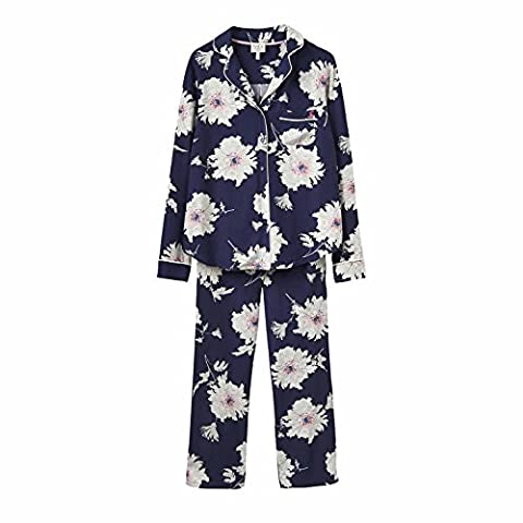 Joules Lyla Pyjamas in French Navy Peony-UK 14 (Adult)
