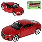 alles-meine.de GmbH Audi TT 8S Coupe Rot 3. Generation Ab 2014 ca 1/43 1/36-1/46 Welly Modell Auto mit individiuellem Wunschkennzeichen