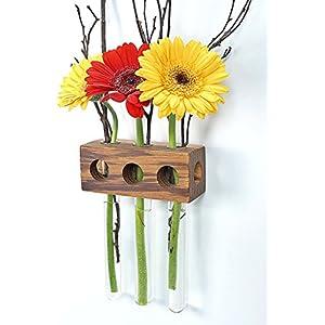 Fenstervase Zebrano 3er Blumenvase Test Tube Vase Flower Vase