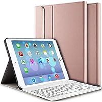 iPad Keyboard Case 9.7, Upworld Wireless Bluetooth Keyboard Cover Case for iPad 9.7 2018 | 2017 | iPad Air 2 | iPad Air, Ultra-thin Magnetically Detachable Removable Wireless Keyboard for iPad